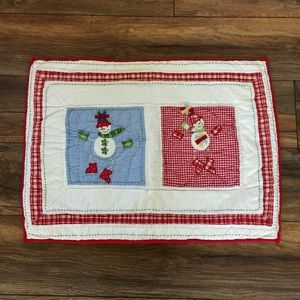 Pottery Barn Kids 2005 Snowman Quilted SHAM HTF